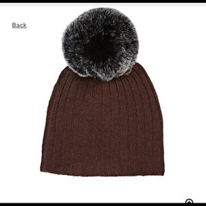 61a7c36ce77 belle enfant Accessories - Belle Enfant Cashmere Blend Infants Hat w Fur NWT